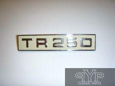Emblem / Schriftzug TR250 auf Kofferraumdeckel, TR250